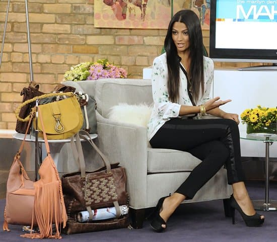 Camila Alves Ears On The Marilyn Denis Show To Promote Her New Line Of Handcrafted Leather