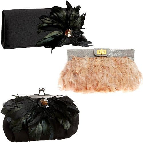 Feathery fringe clutches