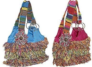 Xela-D Maria Fabric Shoulder Bag