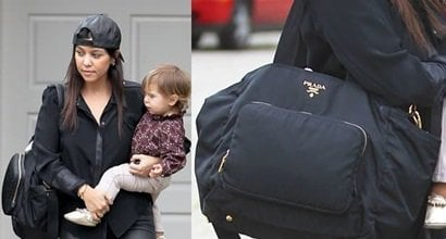 b3177b44b21a Kourtney Kardashian s Prada Diaper Bag Costs Over  1