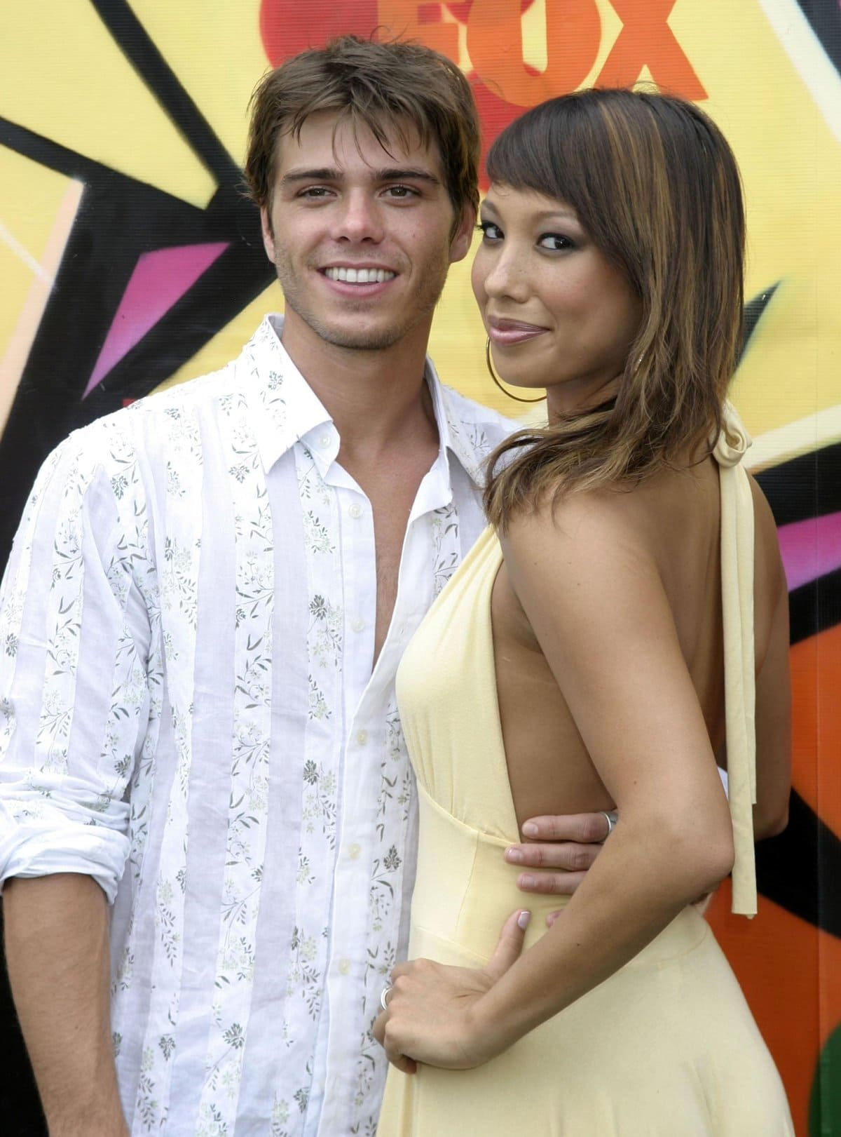Actor Mathew Lawrence and his girlfriend Cheryl Burke at the 2007 Teen Choice Awards