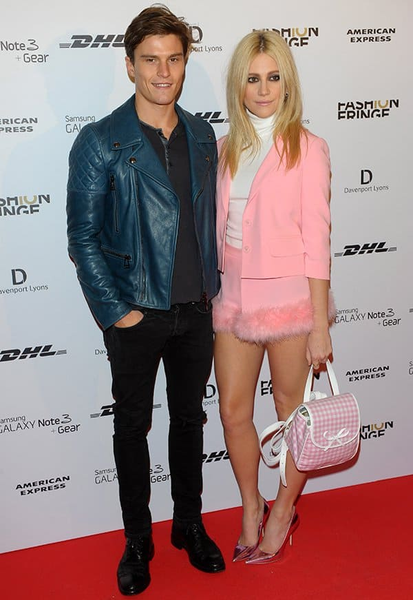 Oliver Cheshire and Pixie Lott atthe Fashion Fringe 10th Anniversary Party