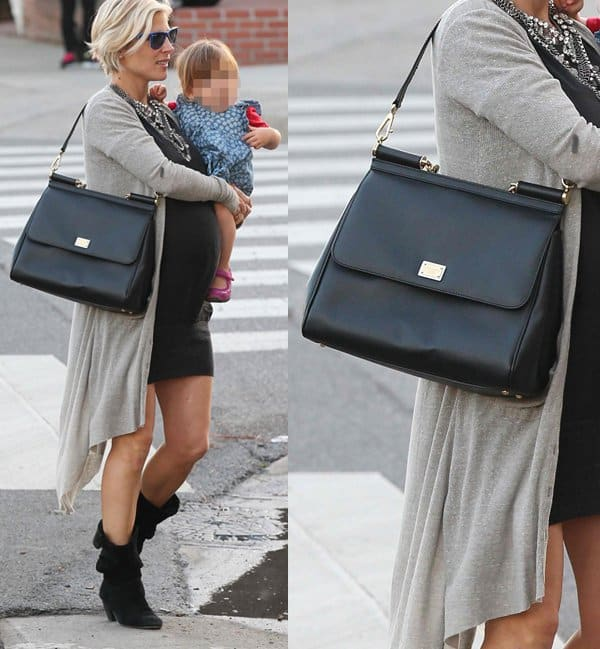 "bd5e9ba07b Elsa Pataky with a Dolce & Gabbana ""Miss Sicily"" Bag"