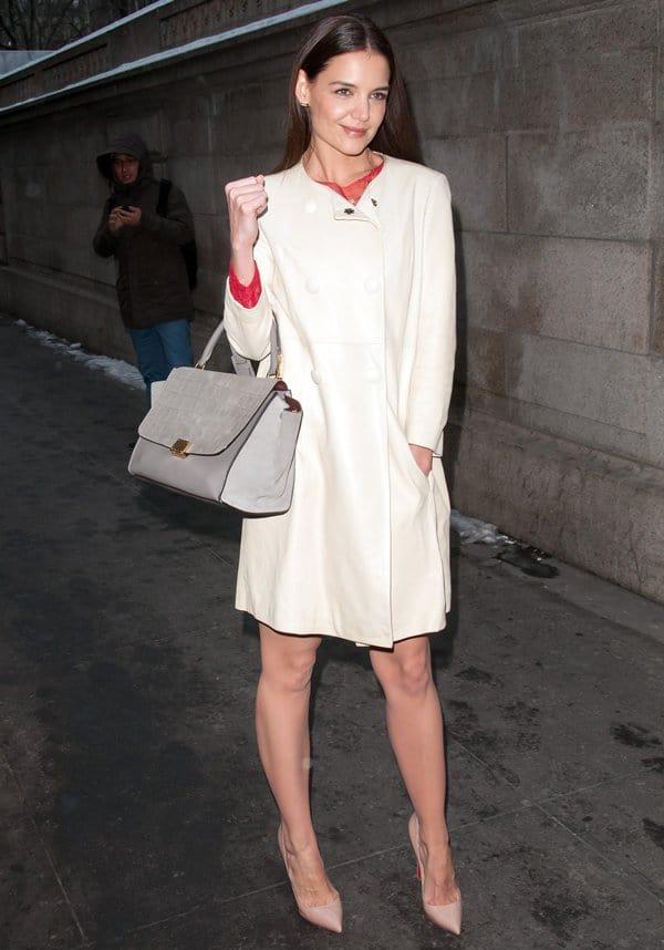 NYFW Bags Katie Holmes
