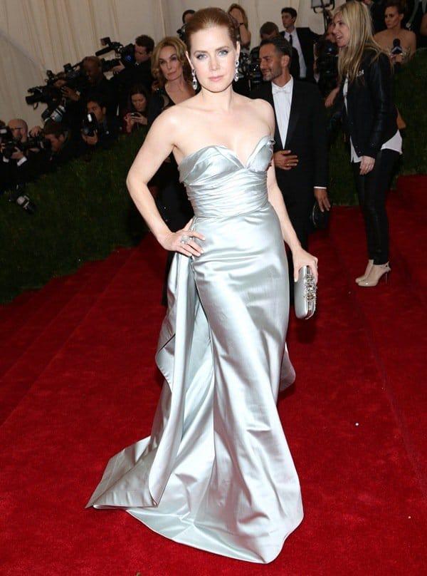 Amy Adams at the 2014 Met Gala held at the Metropolitan Museum of Art in New York City on May 6, 2014