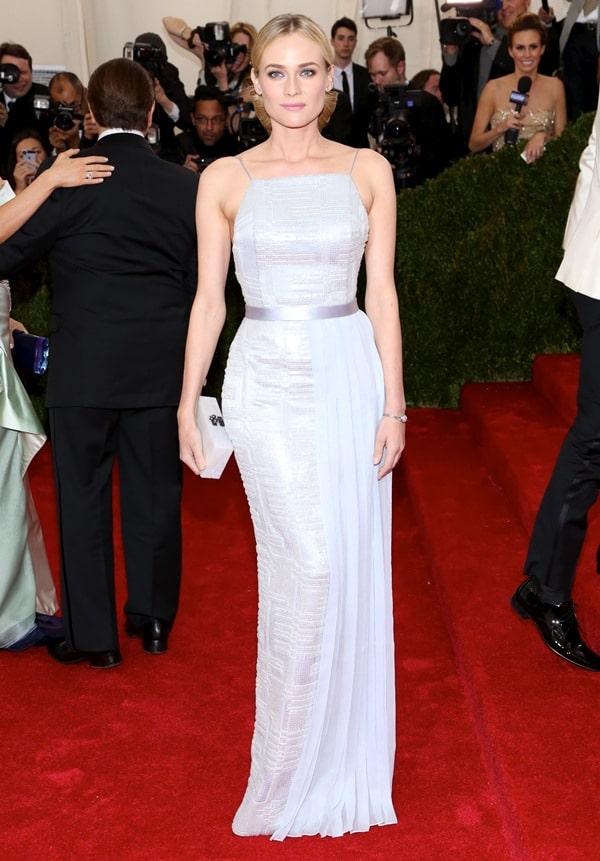 Diane Kruger at the 2014 Met Gala held at the Metropolitan Museum of Art in New York City on May 6, 2014