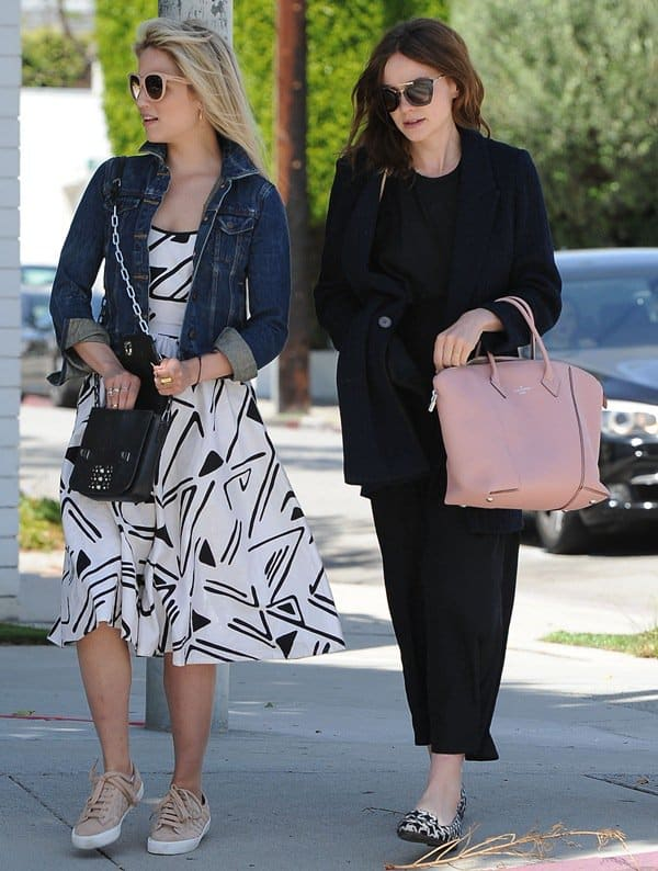 Diana Agron with Carey Mulligan spotted out in West Hollywood on April 26, 2014