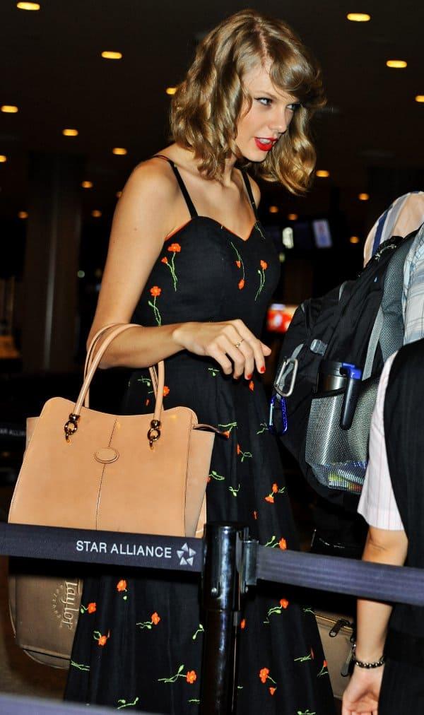 Taylor Swift at Narita International Airport in Japan on June 2, 2014