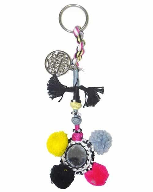 Gypsy05 Multi Color Pom Pom Keychain