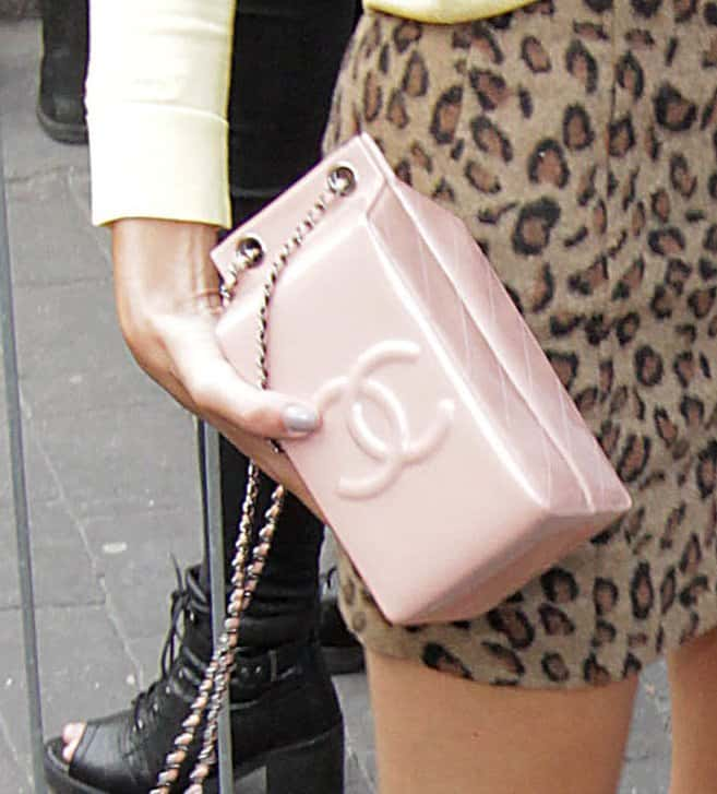 3aef9d0921 Alexa Chung Stands Out with a Whimsical Chanel Milk Carton Bag
