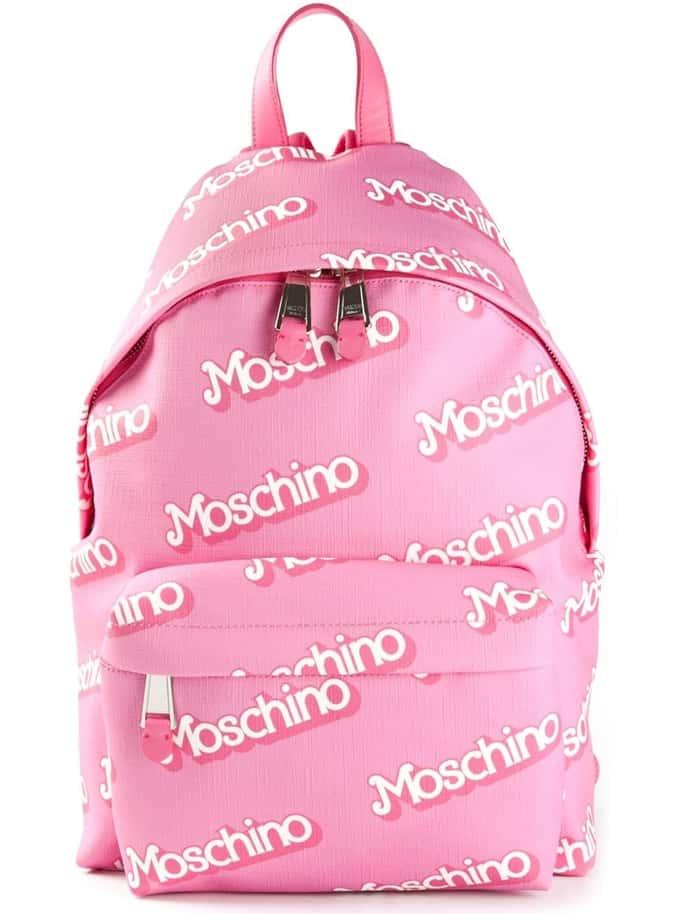Moschino Logo Print Backpack