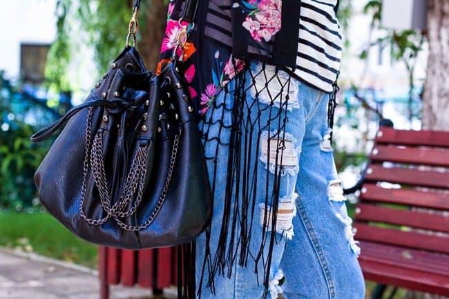 kristina p bucket bag studded chain blogger street style love potion no.5 7