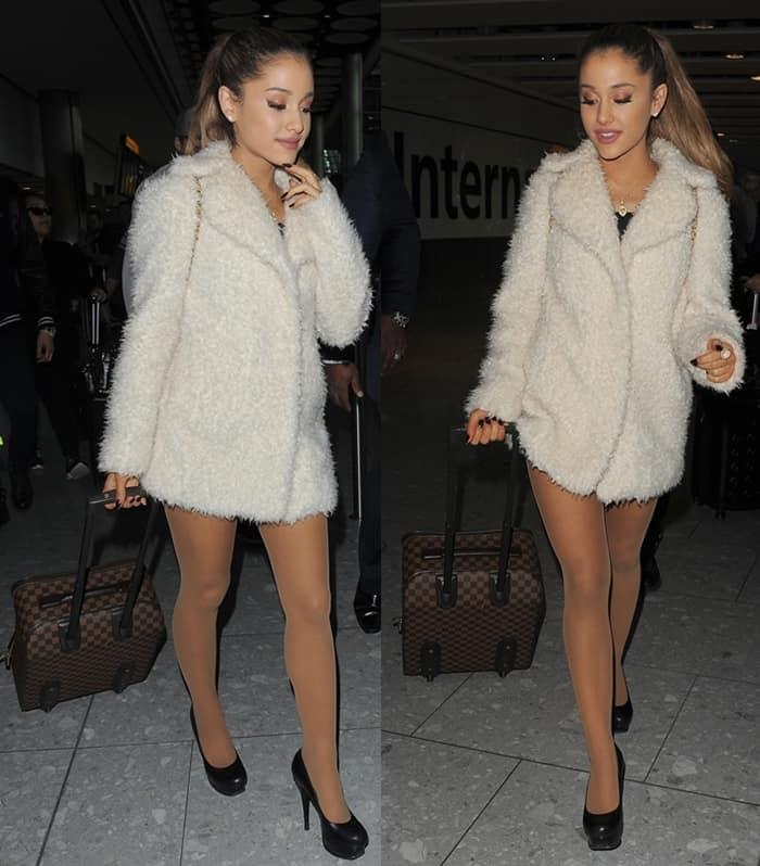 Ariana Grande LV Damier Ebene Suitcase4
