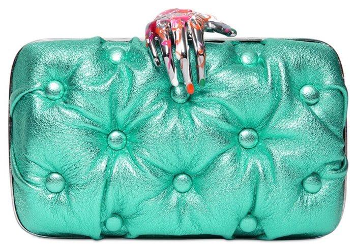 Benedetta Bruzziches Carmen Quilted Leather Clutch