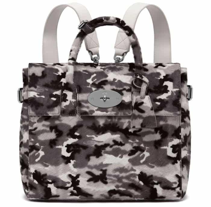 Mulberry Cara Delevingne Bag Black & White Camo Haircalf