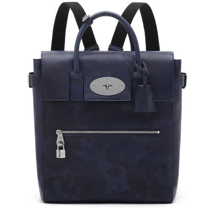 Mulberry Cara Delevingne Bag Blue Camo Printed Goat