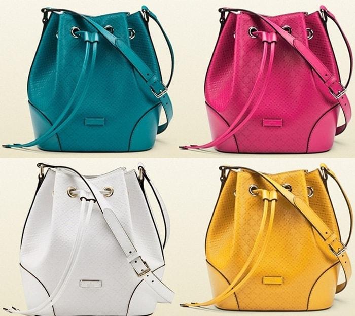 Gucci Bright Diamante Bucket Bags