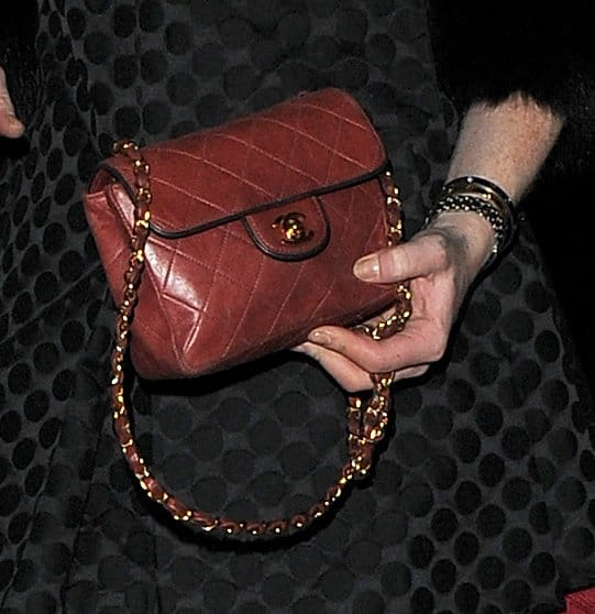 Lindsay Lohan's Chanel mini crossbody bag