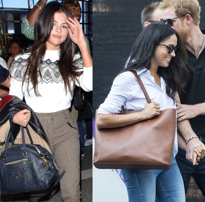 Meghan Markle, Taylor Swift and Selena Gomez show off their personal taste in designer bags