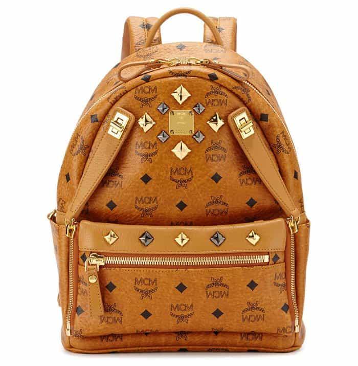 MCM Dual Stark Small Backpack in Cognac