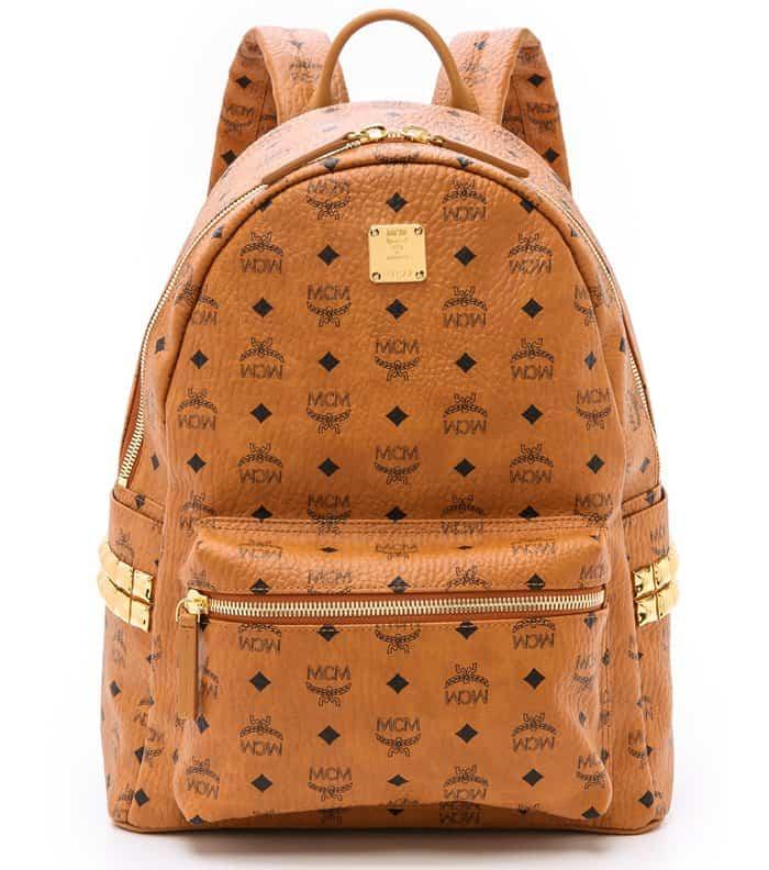 MCM Medium Stark Backpack in Cognac