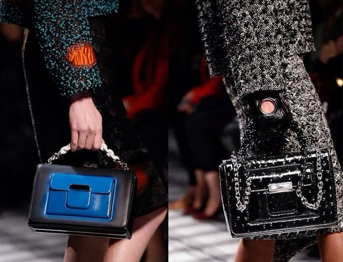 Models carrying Balenciaga bags from its Fall/Winter 2015 collection