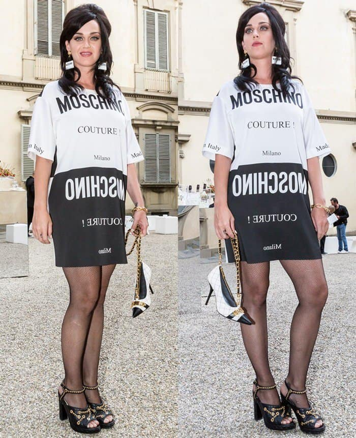 Katy Perry at the 88 Pitti Uomo Men's Fashion Show Spring/Summer 2016 in Florence, Italy, on June 18, 2015