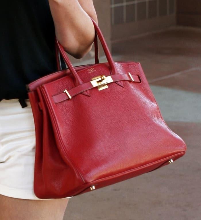 0e628c399a69 ... sale katherine heigl toting a stunning hermes birkin purse in fiery red  fe613 59936