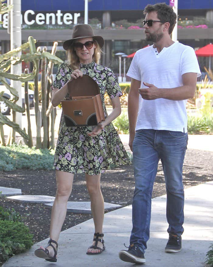 Diane Kruger with boyfriend Joshua Jackson spotted in Hollywood on May 28, 2015