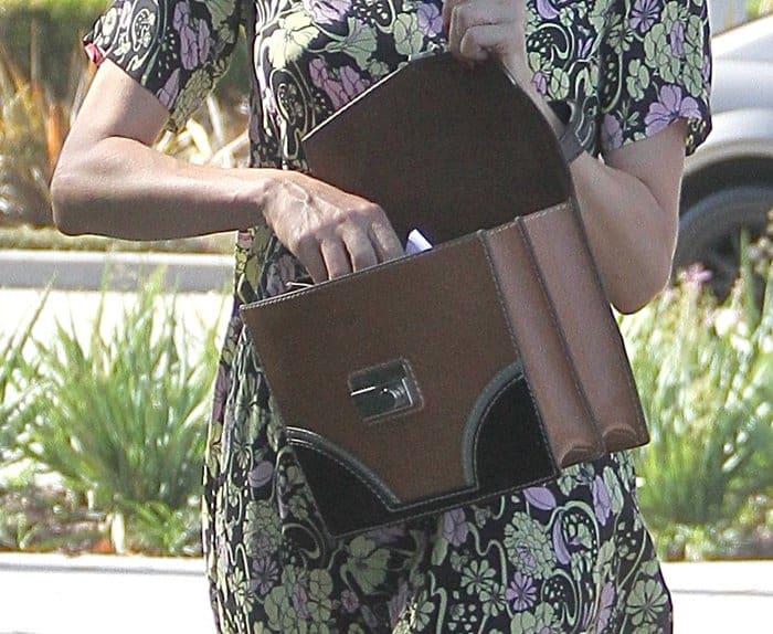 Diane Kruger carrying Prada's Vachetta shoulder bag