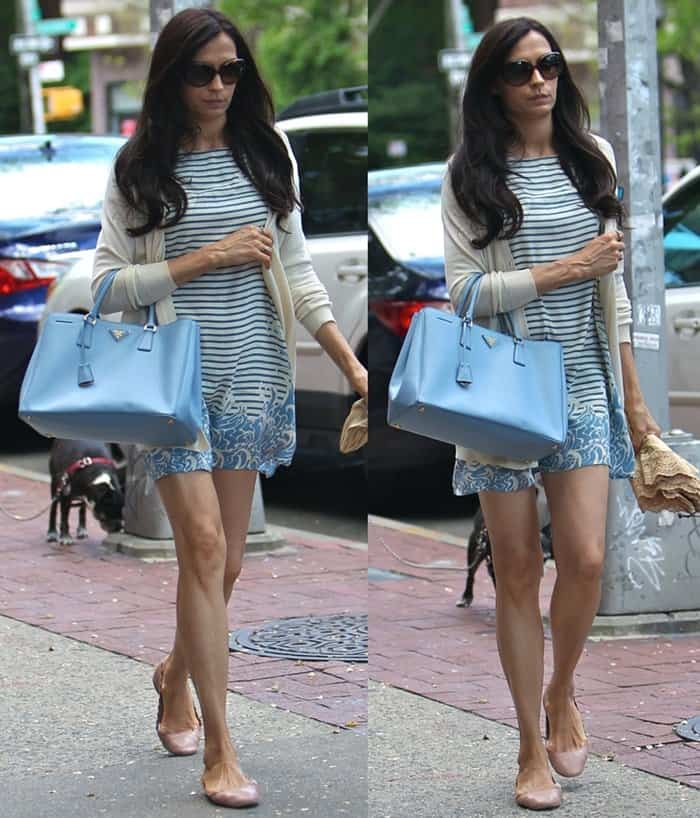Famke Janssen spotted leaving Bar Pitti in West Village, New York City, on May 25, 2014