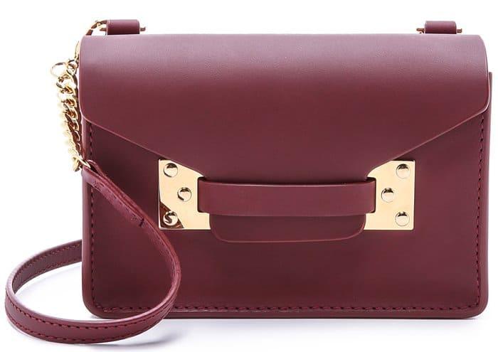 Sophie Hulme Nano Envelope Bag in Grape