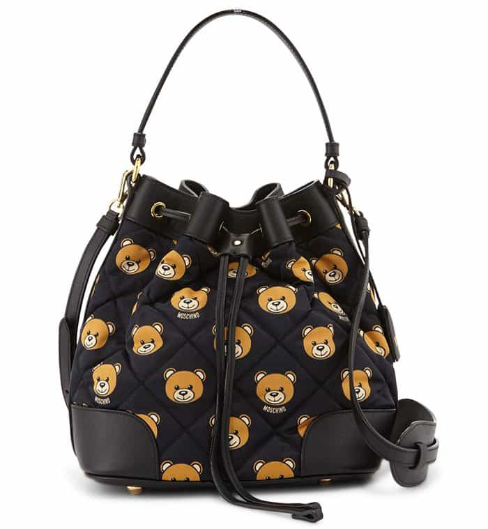Teddy Bear Leather Backpack And Shoulder Bag By Moschino