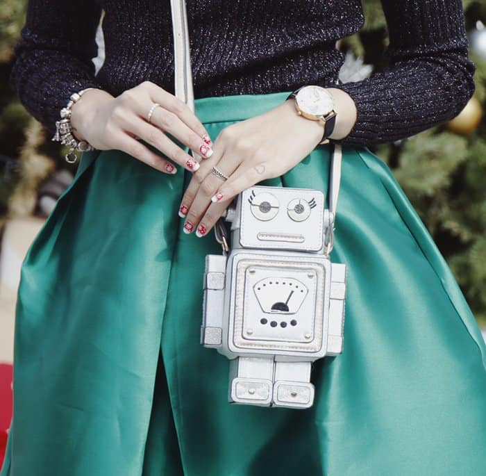 Amelyn Beverly's quirky robot handbag