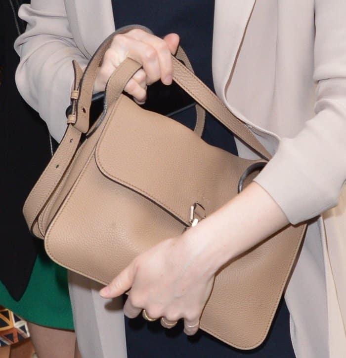 Emma Stone's super soft leather Gucci bag is a classic take on the satchel trend