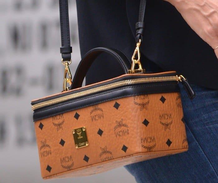 Heidi Klum's box-shaped MCM vanity purse
