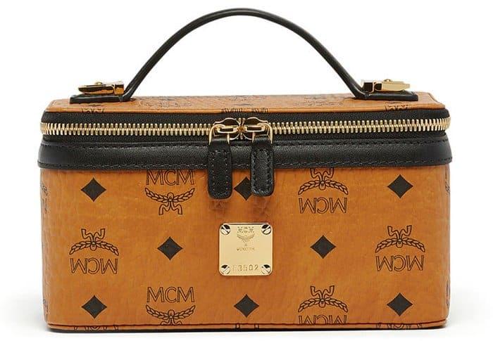 MCM Rockstar Vanity Case in Cognac