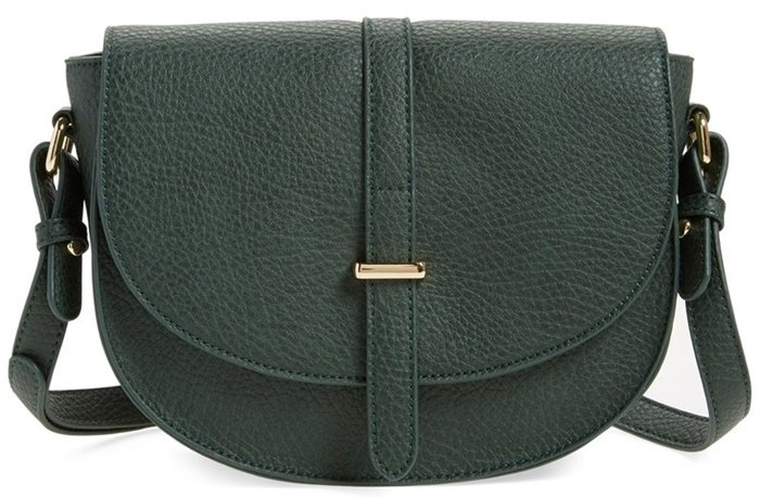 BP Faux Leather Saddle Crossbody Bag
