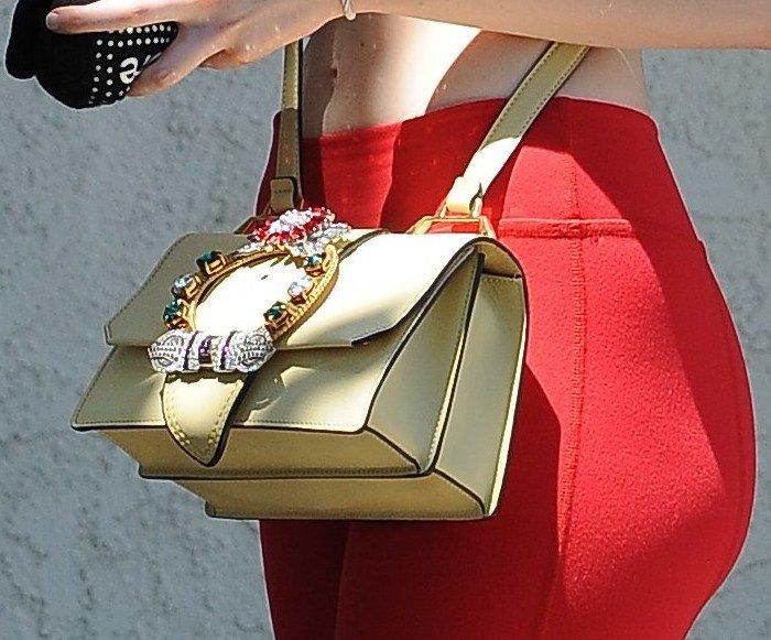 Elle Fanning Crossbody Bag6