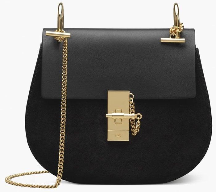 Chloe Drew Shoulder Bag Black