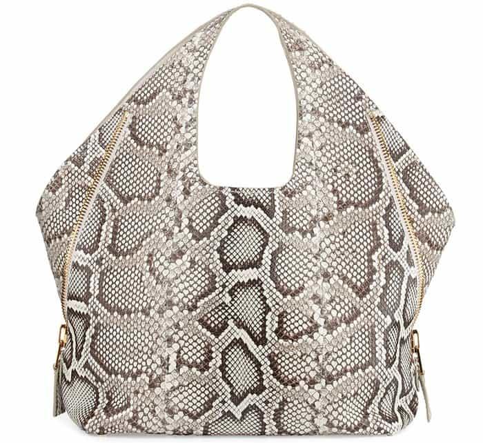 Tom Ford Jennifer Side Zip Python Hobo Bag