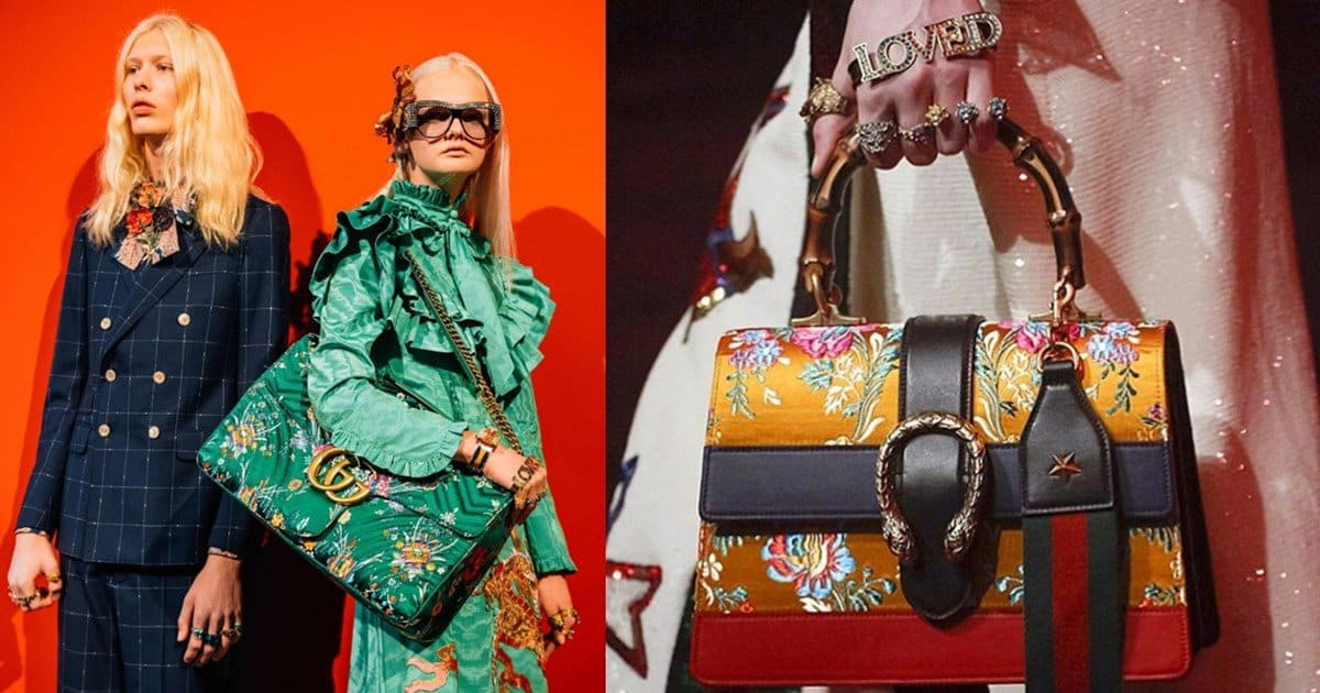 65589e5a56928 Gucci Spring  Summer 2017 Bags Feature Oriental Elements
