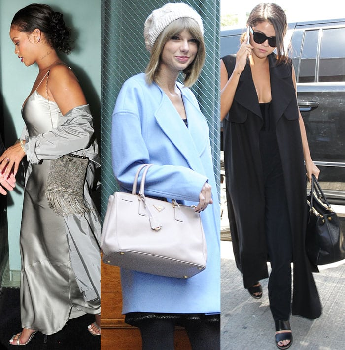 Rihanna, Taylor Swift and Selena Gomez are only some of Hollywood A-listers who love their Prada bags