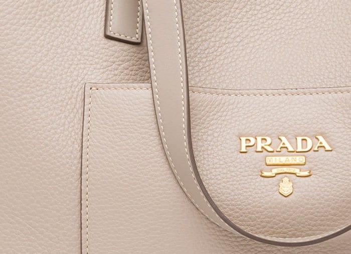 Prada's topstitching is hard to replicate