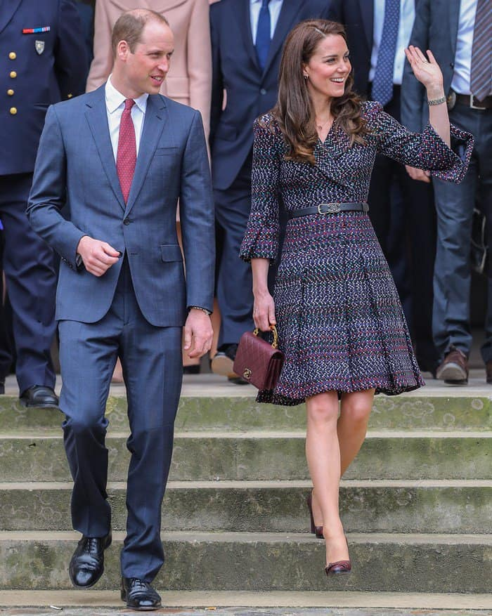 The Duke and Duchess of Cambridge visit Les Invalides military hospital during their official visit to Paris