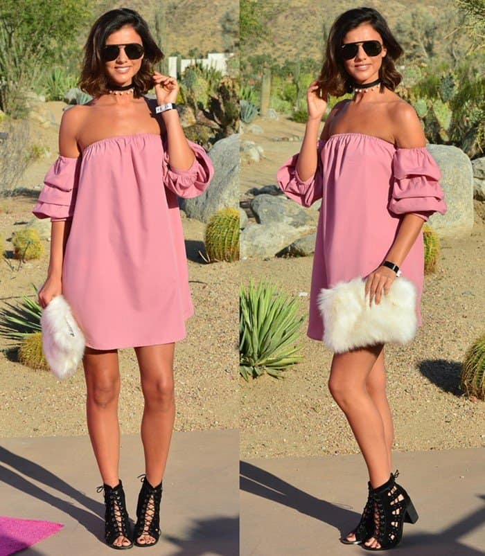 Lucy Mecklenburgh at the 'Pretty Little Thing x Paper Party' in Palm Springs during Coachella