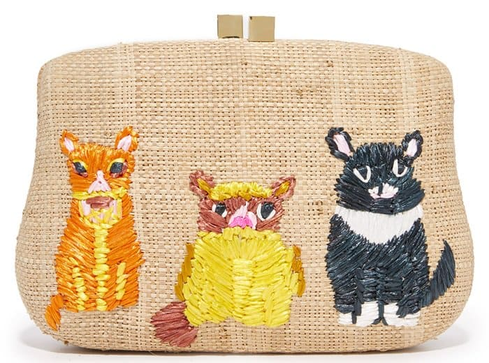 Serpui Marie Blaire cats clutch