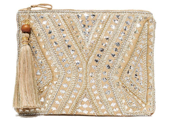 Star Mela multi embroidered clutch