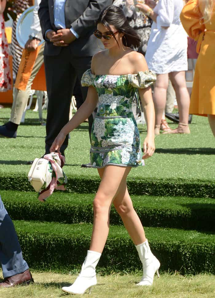 Kendall Jenner at the 10th Annual Veuve Clicquot Polo Classic at Liberty State Park in Jersey City, New Jersey.