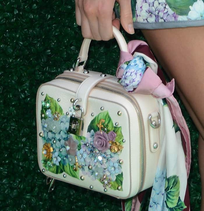 Kendall Jenner's Dolce & Gabbana box bag looks even more magical up close